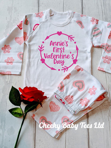 Personalised First Valentine's Day Pyjamas