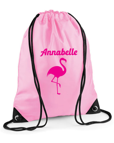 Personalised Flamingo Swimming Bag