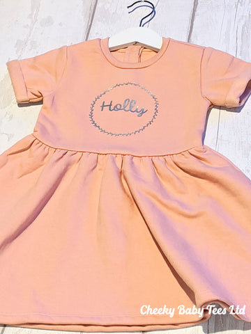 Personalised Name Wreath Girls' Dress