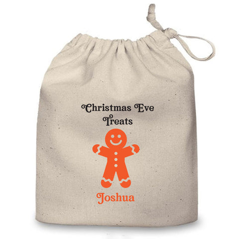 Personalised Christmas Eve Bag (Gingerbread Man)