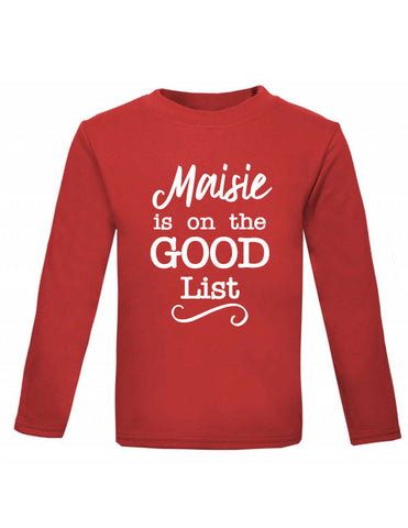 Personalised Good List Baby Christmas Top