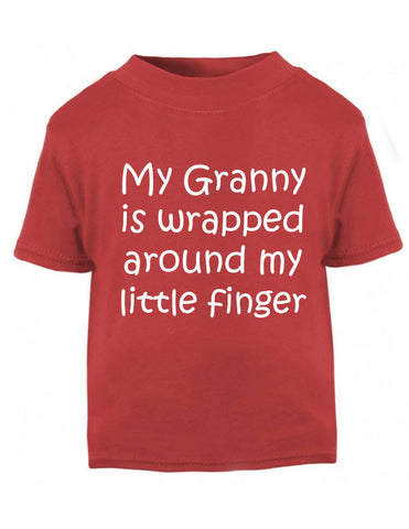 Granny Wrapped around my Finger Baby T Shirt