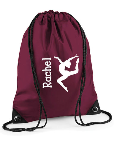 Personalised Gymnastics Drawstring Bag