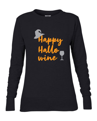 Happy Hallo Wine Women's Sweatshirt
