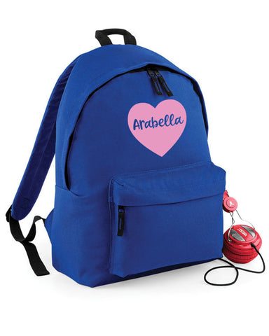 Personalised Heart Kids' Backpack