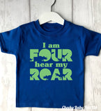 I am 4 Roar Dinosaur T-Shirt