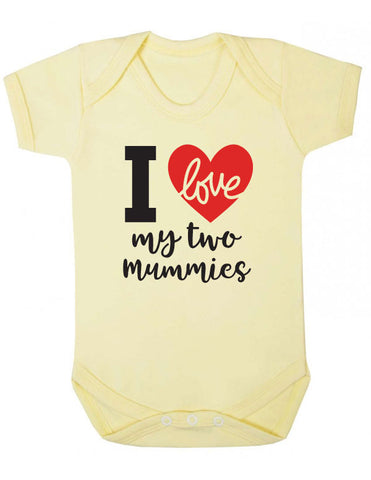 I Love My Two Mummies LGBT Babygrow