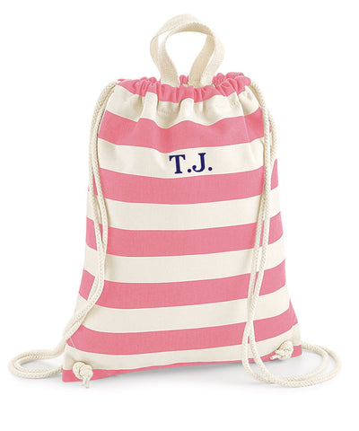 Personalised Initials Drawstring Beach Bag