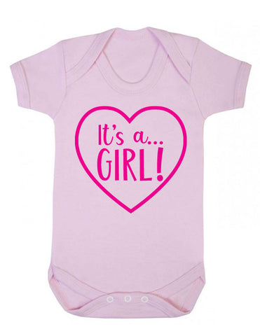 It's a Girl Gender Reveal Babygrow
