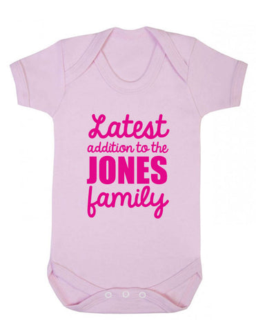 Personalised Latest Addition Babygrow