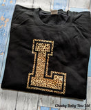 Leopard Print Personalised Initial Ladies' Sweater