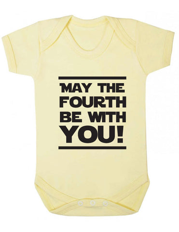 May the Fourth be With You Baby Grow