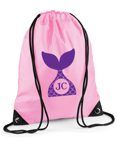 Personalised Initials Mermaid Swimming Bag