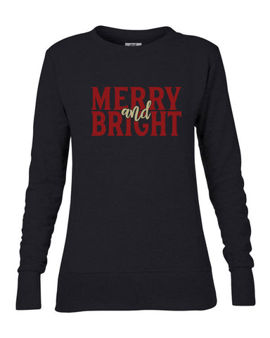 Merry and Bright Christmas Sweatshirt