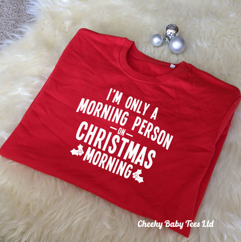 Morning Person Women's Christmas Sweater