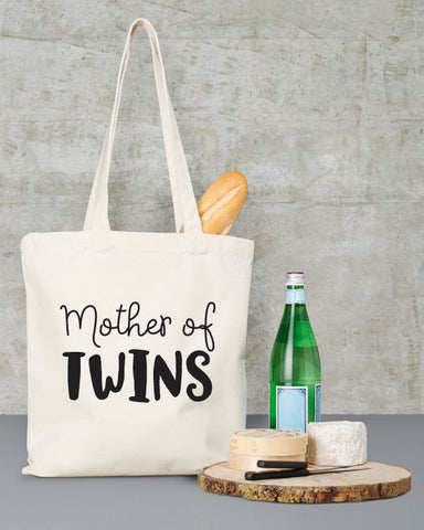 Mother of Twins Canvas Tote Bag