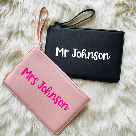 Personalised Mr & Mrs Toiletry Bags Set