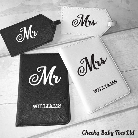 Personalised Mr & Mrs Passport Covers