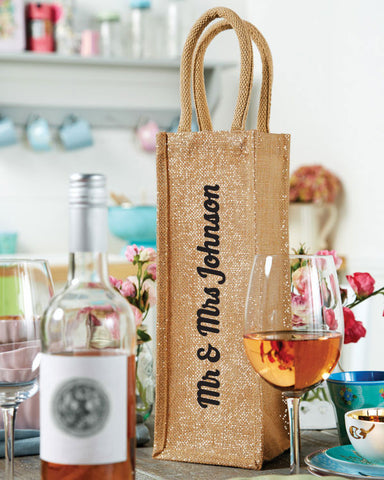 Personalised Mr & Mrs Bottle Bag