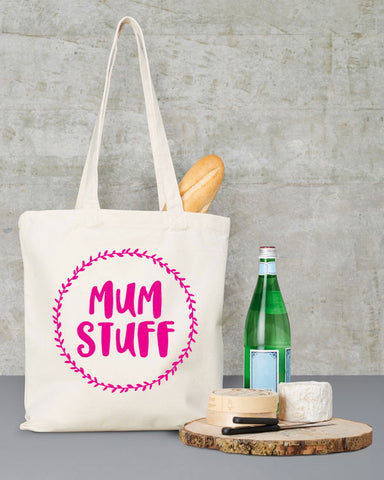 Mum Stuff Canvas Tote Bag