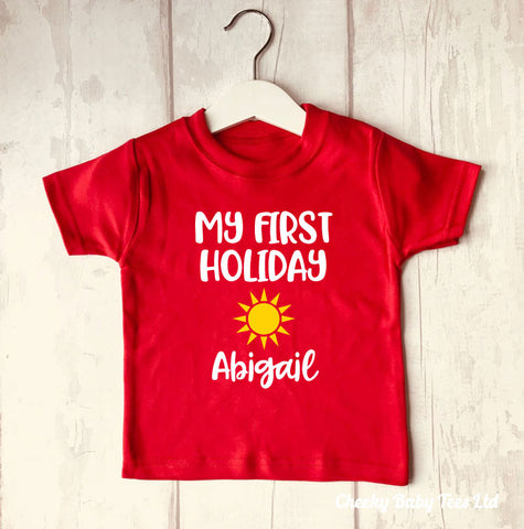 Personalised First Holiday T-Shirt