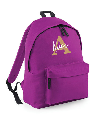 Name & Initial Personalised Backpack