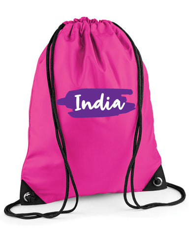 Name Splash Personalised Swimming Bag