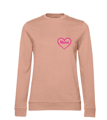 Nana Heart Design Sweatshirt