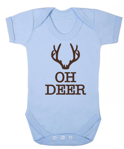 Oh Deer Christmas Baby Grow