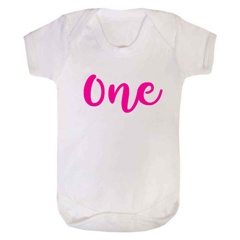 First Birthday One Baby Grow
