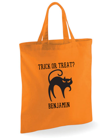 Halloween Trick or Treat Bag (Cat Design)