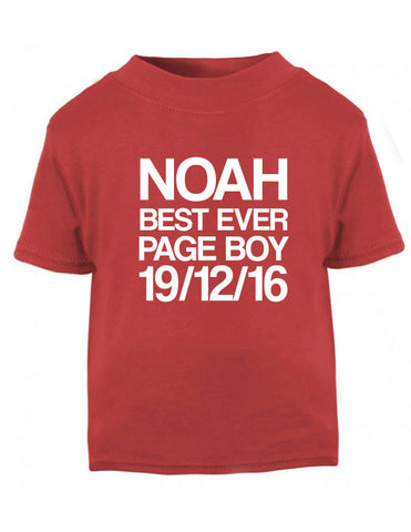 Personalised Page Boy T-Shirt
