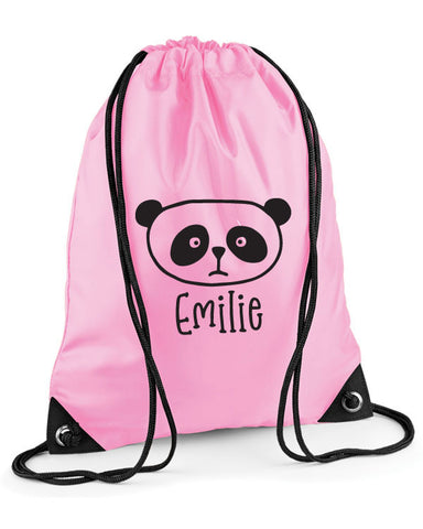 Personalised Panda Swimming Bag