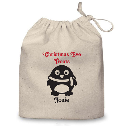 Personalised Christmas Eve Bag (Penguin)