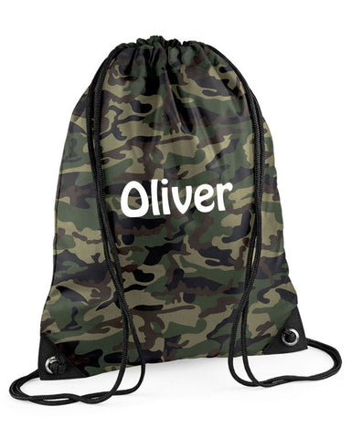Camouflage Personalised Swimming Bag