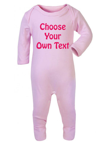 Personalised Text Sleepsuit