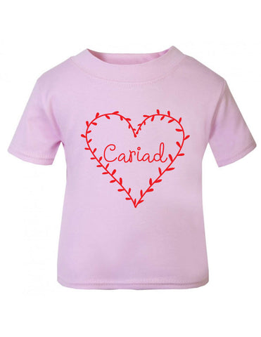 Cariad Love Welsh Baby T-Shirt