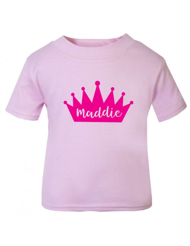 Personalised Prince/Princess Baby T-Shirt