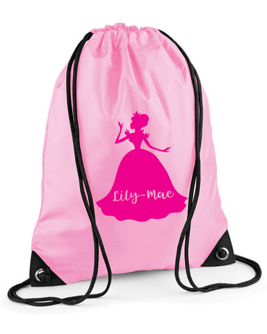 Personalised Princess Swimming Bag