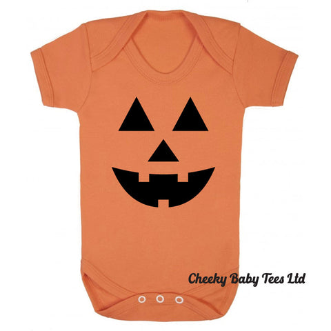 Pumpkin Face Baby Grow