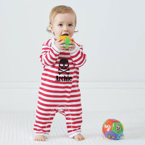 Personalised Pirate Baby Rompasuit