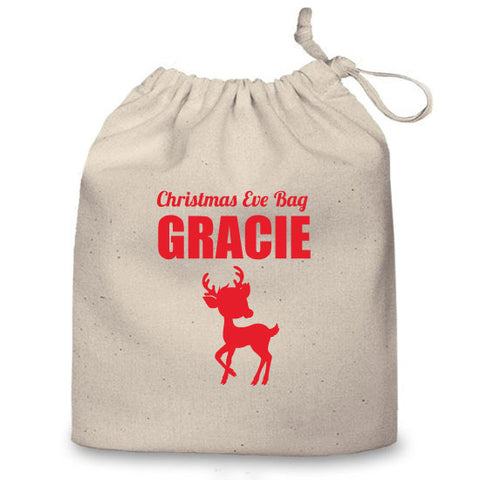 Personalised Christmas Eve Bag (Reindeer)