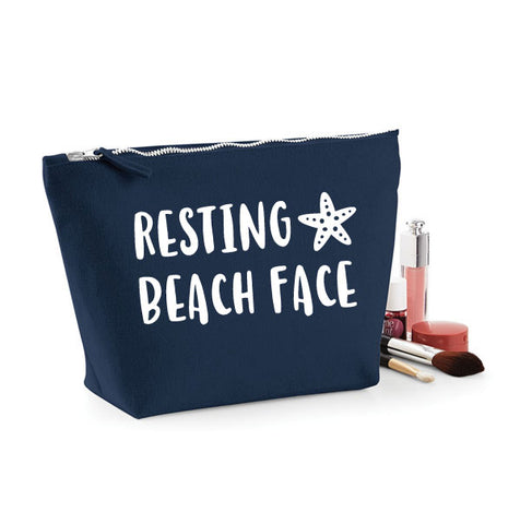 Resting Beach Face Funny MakeUp Bag