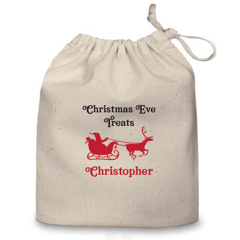 Personalised Christmas Eve Bag (Santa Sleigh)