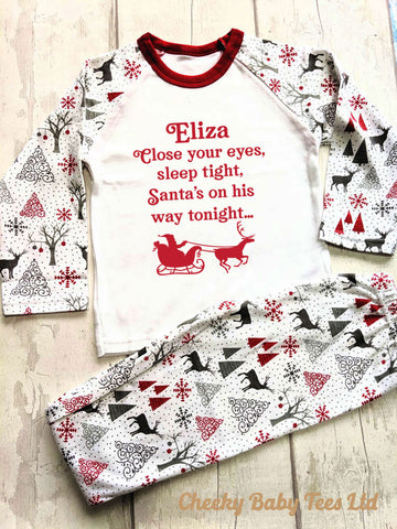 Santa's on his Way Kids' Christmas Pyjamas