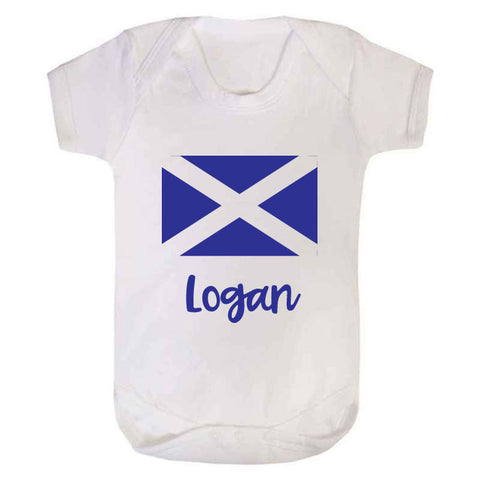 Personalised Scottish Baby Grow
