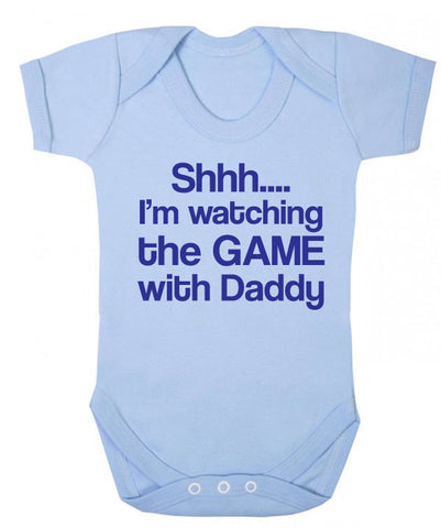 Shh I'm Watching the Game with Daddy Baby Grow