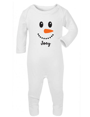 Personalised Snowman Sleepsuit