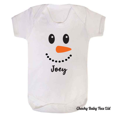 Personalised Snowman Baby Grow