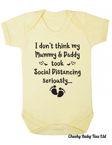 Lockdown Pregnancy Announcement Babygrow